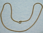 Click here to enlarge image and see more about item j00969: Unmarked Rat Tail Goldtone Necklace
