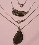 Click here to enlarge image and see more about item j01015: Sterling Silver and Stone Necklace Pair