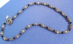 Silver and Onyx Choker by Designer Lindy Freed