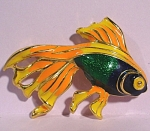 Beautiful Enameled Fish Pin