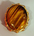Click here to enlarge image and see more about item j01149: Tiger Eye Pin Pendant
