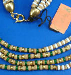 Click to view larger image of Castlecliff 4 Strand Earthtone/Green Necklace (Image2)