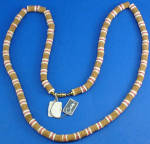 Click here to enlarge image and see more about item j01176: Castlecliff Cork Necklace