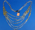 Click to view larger image of Castlecliff Two Tone Multi-Strand Drape Necklace (Image1)