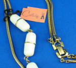 Click to view larger image of Castlecliff Goldtone Two Strand Necklace (Image2)