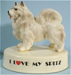 Click here to enlarge image and see more about item jo00136: Josef Originals George-Good Spitz Dog Figurine
