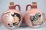 Click here to enlarge image and see more about item k00037: Hillbilly Jug S/P Set