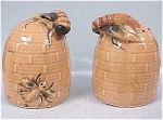 Click here to enlarge image and see more about item k00046: Bee Hive Salt & Pepper Set