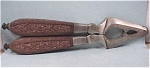 Click here to enlarge image and see more about item k00102: Hand Made Metal & Rosewood Nutcracker