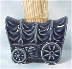 Click here to enlarge image and see more about item k00130: Japan Pottery Covered Wagon Toothpick Holder