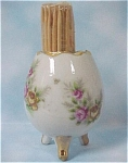 Click here to enlarge image and see more about item k00132: Ceramic Egg Toothpick Holder