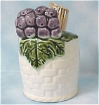 Click here to enlarge image and see more about item k00133: Grape Basket Toothpick Holder