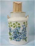 Click here to enlarge image and see more about item k00134: Enesco Ceramic July Milk Can Toothpick Holder