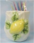 Japan Ceramic Lemon Toothpick Holder