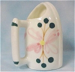 Click here to enlarge image and see more about item k00156: 1970s Japan Bone China Iron Shaped Toothpick