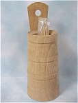 Click here to enlarge image and see more about item k00157: Wood Churn Toothpick Holder