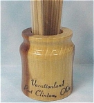 Click here to enlarge image and see more about item k00159: Wood Toothpick Holder