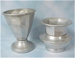 Click here to enlarge image and see more about item k00165: Weighted Aluminum Toothpick Holder Pair