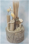 Click here to enlarge image and see more about item k00167: Seaside Scene Toothpick Holder