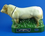 Click here to enlarge image and see more about item m00012: Erza Brooks Heritage China Charolais Bull Decanter