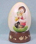 Click here to enlarge image and see more about item m00045: 1979 Ferrandie Toriart wood egg