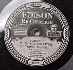 Click here to enlarge image and see more about item m00096: Edison Record 50882 'Break the News to Mother' 'Maggie'