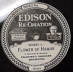 Click here to enlarge image and see more about item m00101: Edison Record 'Flower of Hawaii' 'Hawaiian Nighingale'