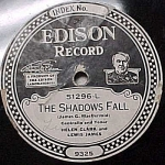 Click here to enlarge image and see more about item m00111: Edison Record #51296: 'Thrill of Love', 'Shadow Falls'