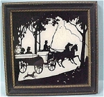 Click here to enlarge image and see more about item m00190: Vintage Silhouette Picture