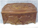 1940s Brown & Yellow Marbleized Plastic Box