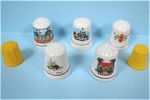 Click here to enlarge image and see more about item m00232: Thimble Lot of 7