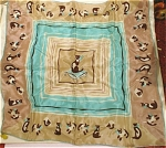 Click here to enlarge image and see more about item m00249: Kimball Silk Scarf with Siamese Cats