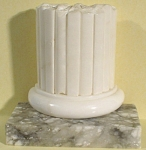 Click to view larger image of Heavy Alabaster Column Bookend (Image1)