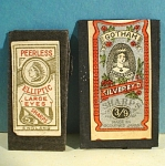Click here to enlarge image and see more about item m00297: Vintage Sewing Needle Packet Pair