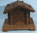 Wood Tramp Art Cabin Box