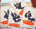 Click here to enlarge image and see more about item m00322: Cartoony Crow Bar Napkins
