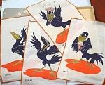 Click to view larger image of Cartoony Crow Bar Napkins (Image1)