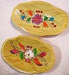 Click to view larger image of Lovely Tole Painted Wood Bowl Pair (Image1)