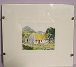 Click here to enlarge image and see more about item m00353: Tiny Irish Watercolor, Joy of Ireland by Louise Waugh