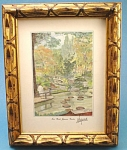 1988 Fort Worth Japanese Gardens Print by Hagood