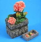 Click here to enlarge image and see more about item m00367m: Direct Connection Resin Carnation Trinket Box