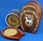 Click here to enlarge image and see more about item m00387: Two Black Horse Inn Coaster Sets
