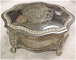 Click here to enlarge image and see more about item mt00069: Silver Plate Jewelry Box