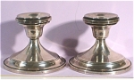 Click here to enlarge image and see more about item mt00112: Sterling Hamilton Silver Co Candlestick Pair