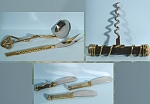 Click here to enlarge image and see more about item mt00136: Hand Crafted Metal Corkscrew and Flatware