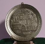 Click here to enlarge image and see more about item mt00152: Miniature Pewter Williamsburg Souvenir Plate