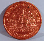 Click here to enlarge image and see more about item mt00181: 1933 Chicago Centennial Souvenir Coin