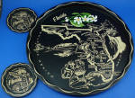 Florida Souvenir Metal Tray and Coaster Set
