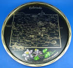 Click here to enlarge image and see more about item mt00189: Colorado Souvenir Metal Tray
