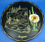 Click here to enlarge image and see more about item mt00190: Arizonia Souvenir Metal Tray